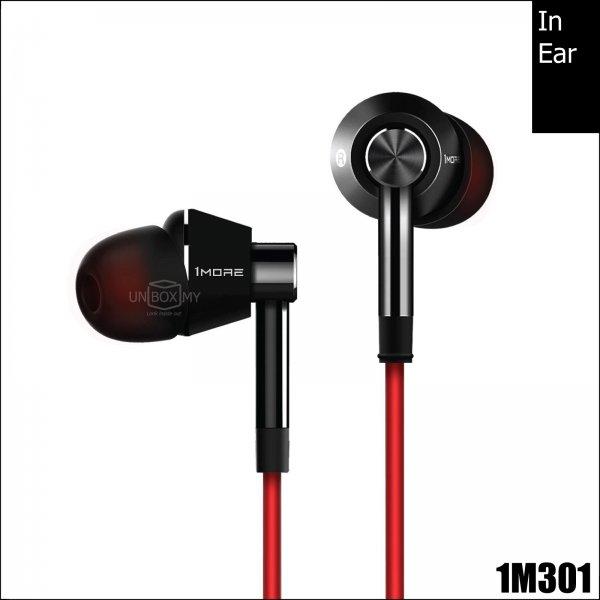 1MORE 1M301 Single Driver In-Ear Headphones (Black)