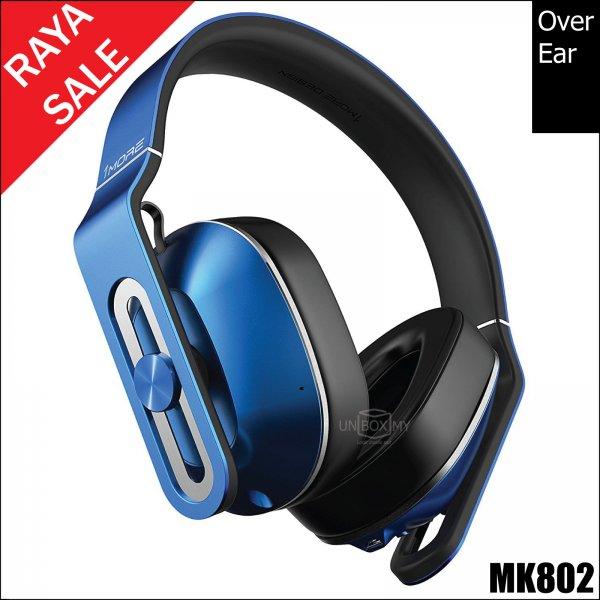 1MORE MK802 Bluetooth Over-Ear Headphones (Blue)