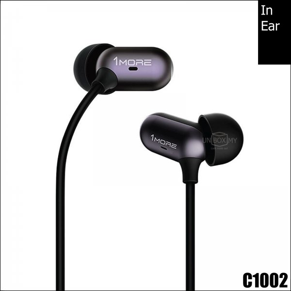 1MORE C1002 Capsule Dual Driver In-Ear Headphones (Black)