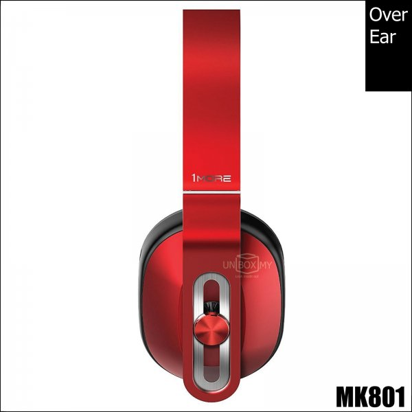 1MORE MK801 Over-Ear Headphones (Red)