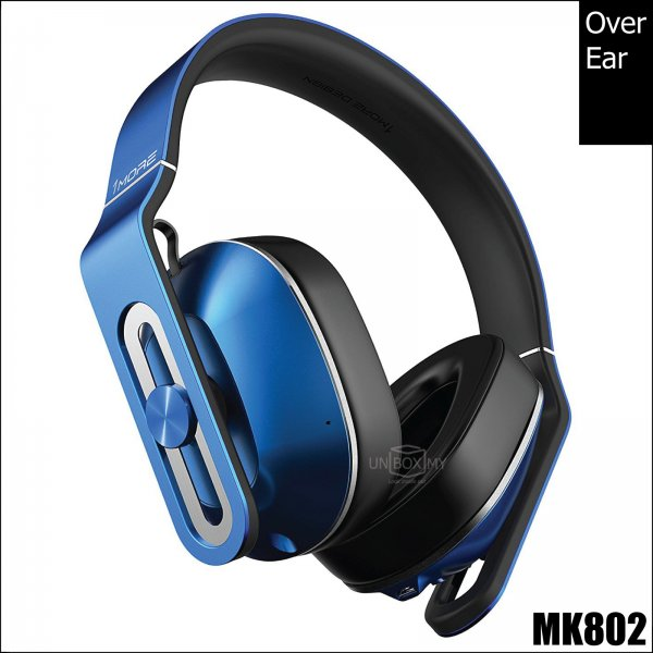 1MORE MK802 Bluetooth Over-Ear Headphones (Blue)