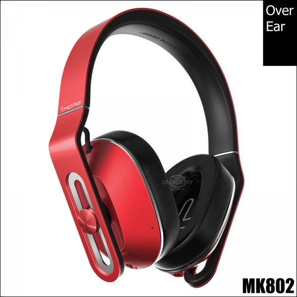 1MORE MK802 Bluetooth Over-Ear Headphones (Red)