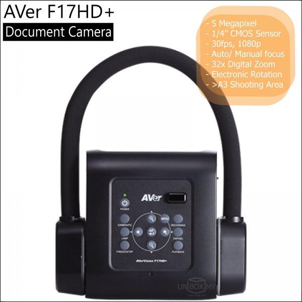 AVer F17HD+ 5-megapixels Full HD Document Camera