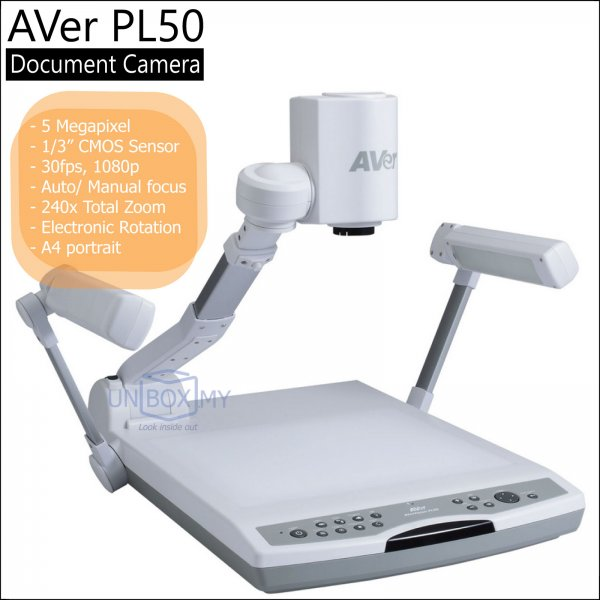 AVer PL50 5-megapixels Full HD Platform Document Camera