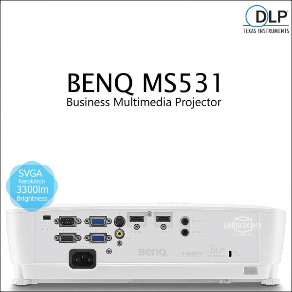 BENQ MS531 DLP SVGA Business Multimedia Projector
