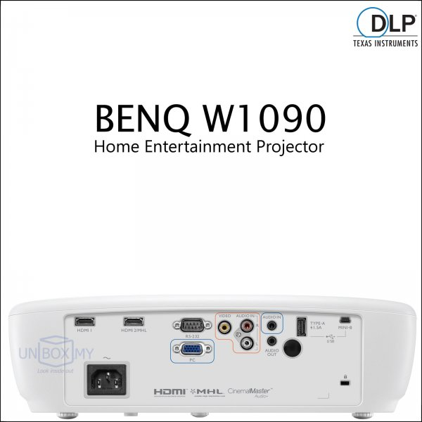 BENQ W1090 DLP Full HD 3D Home Theater Projector