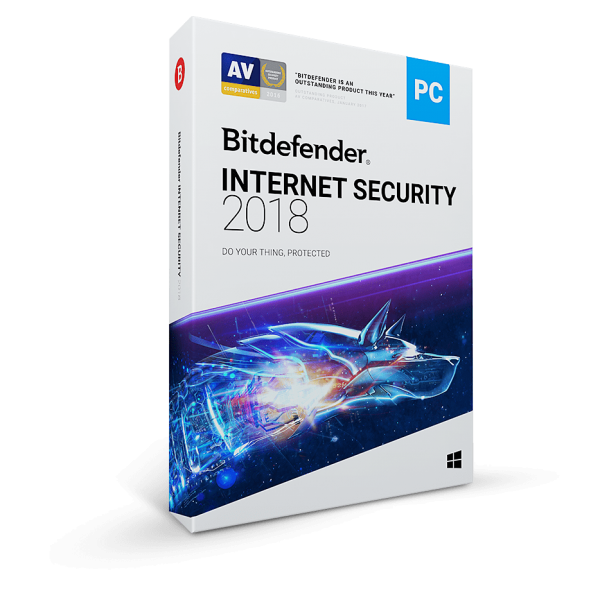 Bitdefender Internet Security 2018 for 3-Device 1-Year Subscription