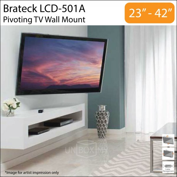 Brateck LCD-501A 23-42 inch Tilt Swivel TV Wall Mount