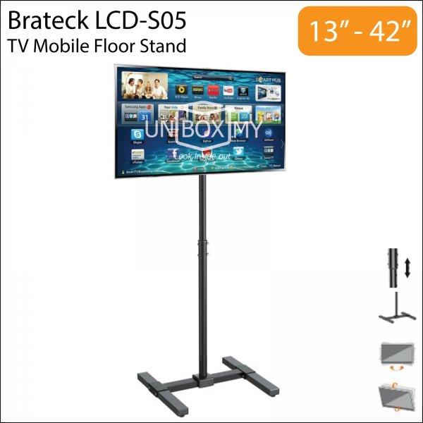 Brateck LCD-S05 13-42 inch Tilt Height Adjustable TV Floor Stand