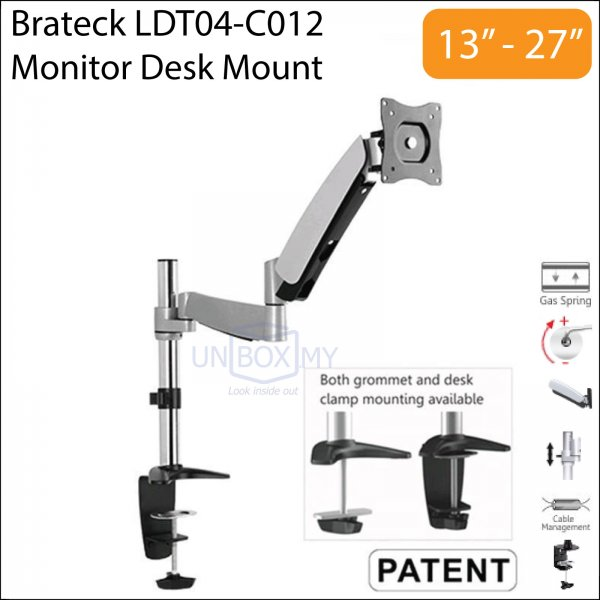 Brateck LDT04-C012 13-27 inch Monitor LCD Desk Mount Stand