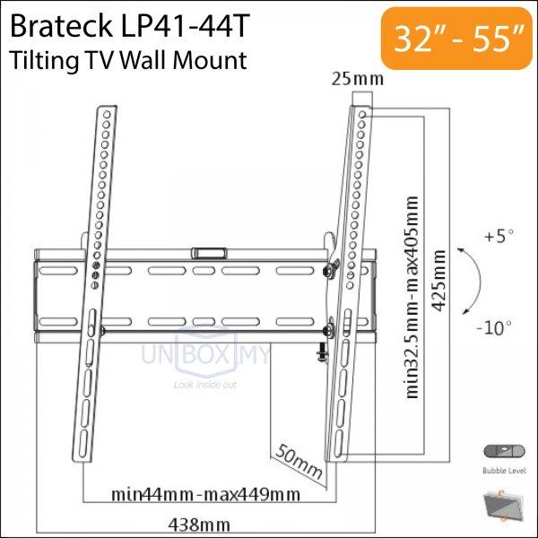 Brateck LP41-44T 32-55 inch Tilt TV Wall Mount
