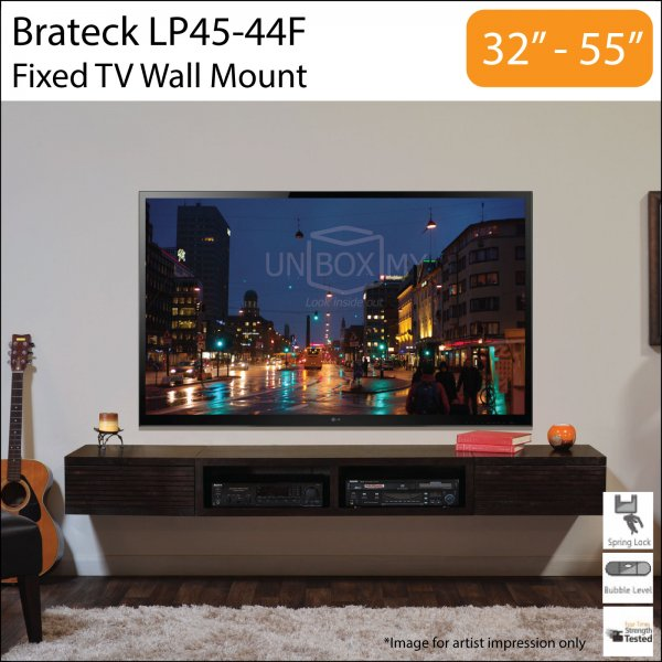brateck lp45 44f tv wall mount unbox my. Black Bedroom Furniture Sets. Home Design Ideas