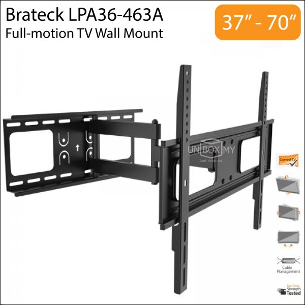 Brateck LPA36-463A 37-70 inch Full-motion TV Wall Mount