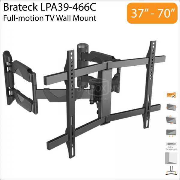 Brateck LPA39-466C 37-70 inch Full-motion TV Wall Mount
