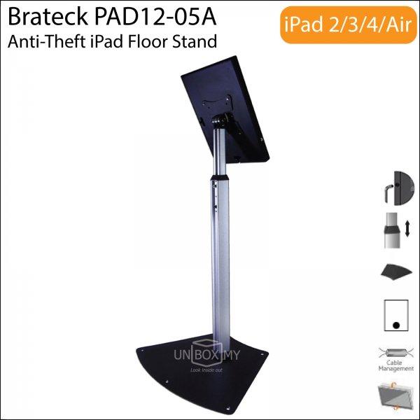 Brateck PAD12-05A Anti-Theft iPad Floor Stand