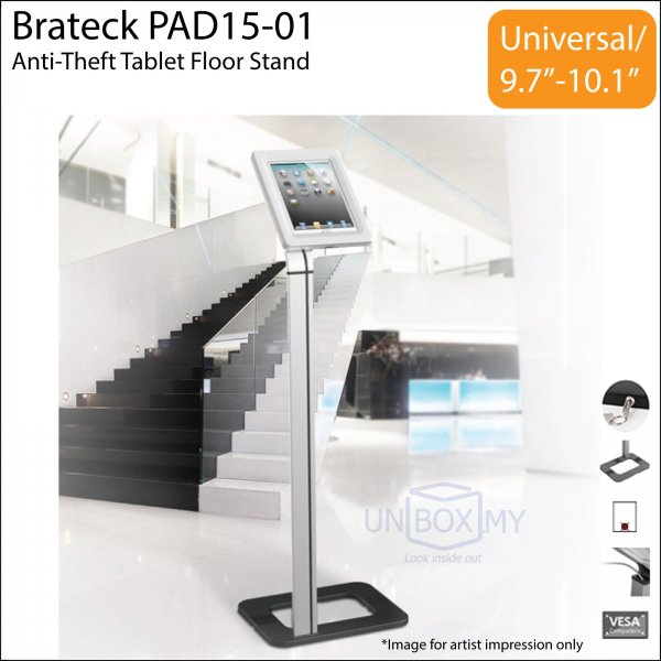 Brateck PAD15-01 Anti-Theft Tablet iPad Floor Stand