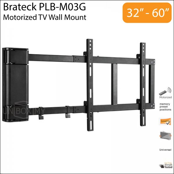 Brateck PLB-M03G 32-60 inch Motorized TV Wall Mount