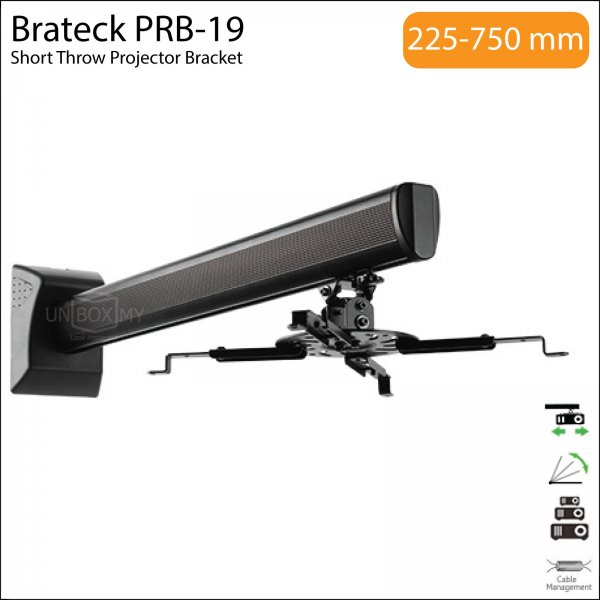 Brateck PRB-19 Universal Short Throw Projector Bracket Mount