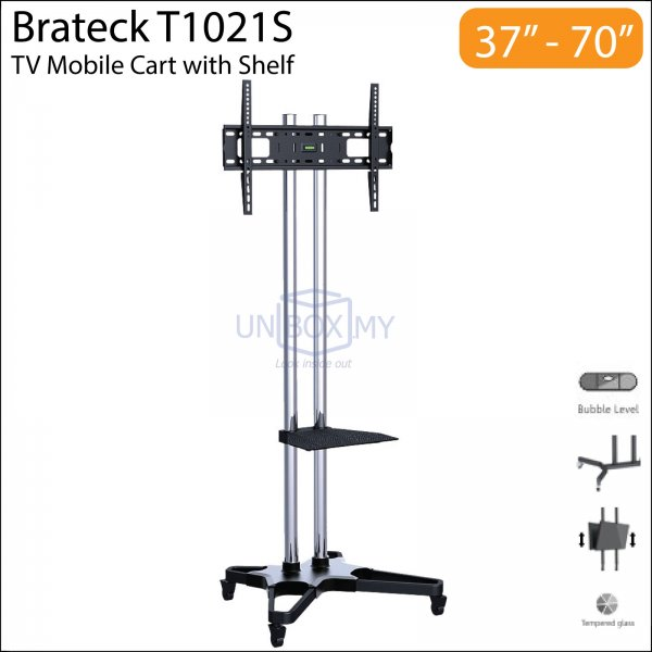 brateck t1021s tv cart unbox my. Black Bedroom Furniture Sets. Home Design Ideas