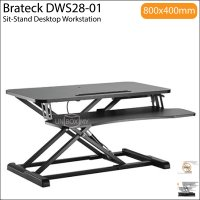 Brateck DWS28-01 Sit-Stand Desktop Workstation Stand