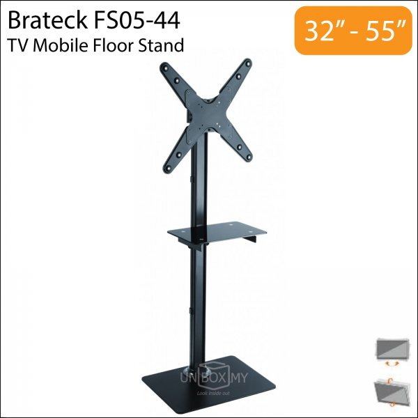 Brateck FS05-44 32-55 inch Tilt Solid Portable TV Floor Stand