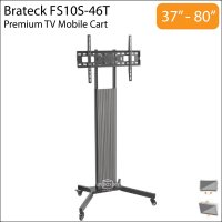 Brateck FS10S-46T 37-80 inch Height Adjustable TV Trolley Cart Stand