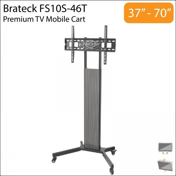 Brateck FS10S-46T 37-70 inch Height Adjustable TV Trolley Cart Stand