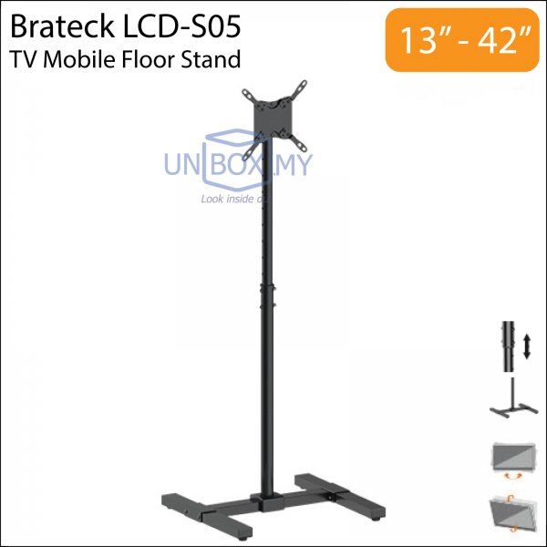 Brateck LCD-S05 13-42 inch Tilt Height Adjustable TV Floor Stand