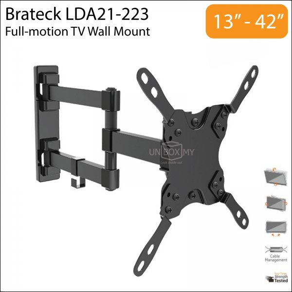 Brateck LDA21-223 13-42 inch Full-motion TV Monitor Wall Mount