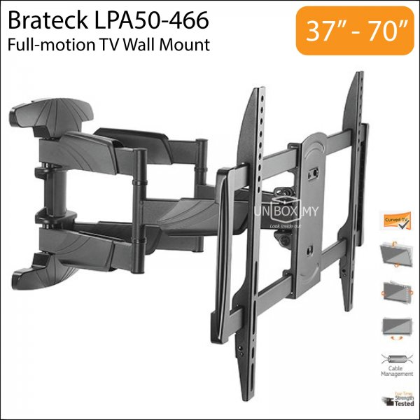 Brateck LPA50-466 37-70 inch Full-motion TV Wall Mount