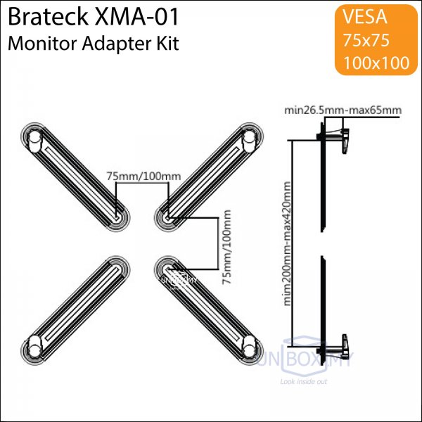 Brateck XMA-01 Monitor VESA Adapter Mount Kit