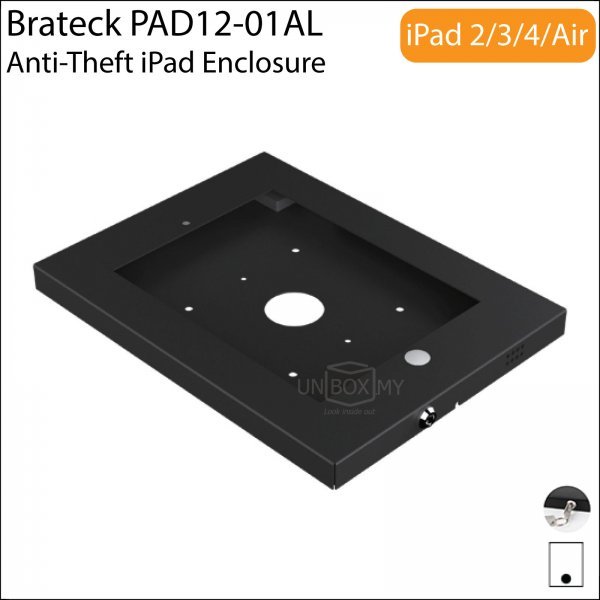 Brateck PAD12-01AL Anti-Theft iPad Wall Mount Enclosure Case
