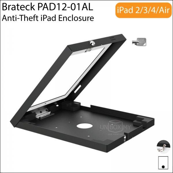 Brateck PAD12-01AL Anti-Theft iPad Wall Mount Enclosure Case