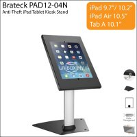 Brateck PAD12-04N Anti-Theft iPad Tablet Kiosk Stand