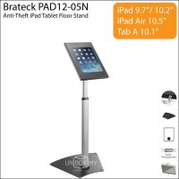 Brateck PAD12-05N Anti-Theft iPad Tablet Floor Stand