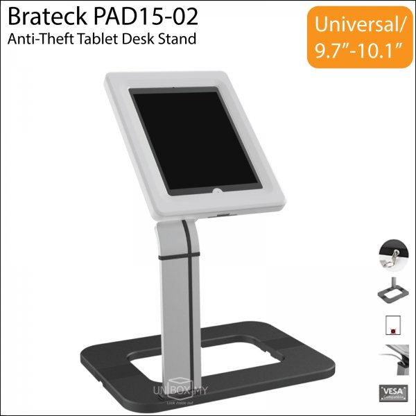 Brateck PAD15-02 Anti-Theft Tablet iPad Desk Stand