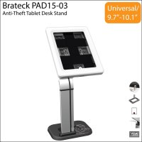 Brateck PAD15-03 Anti-Theft Tablet iPad Desk Stand