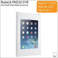 Brateck PAD32-01B Anti-Theft iPad Tablet Wall Mount Enclosure
