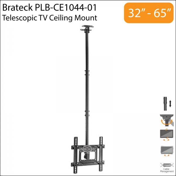 Brateck PLB-CE1044-01 32-65 inch Telescopic TV Ceiling Mount