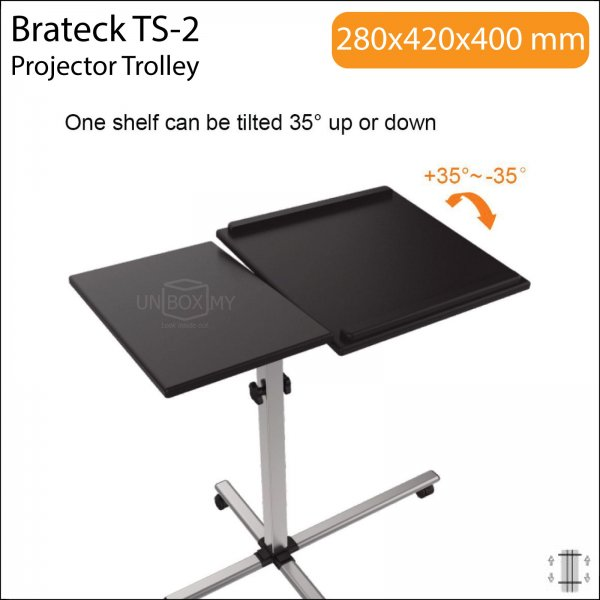 Brateck TS-2 Projector Laptop Trolley Cart Stand