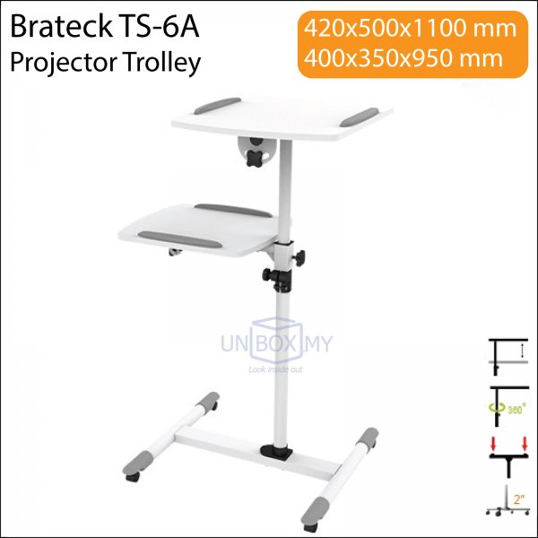 Brateck TS-6A Projector Laptop Trolley Cart Stand