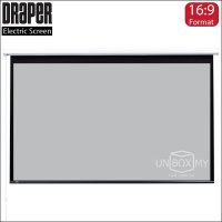 DRAPER Baronet Electric Projection Screen High contrast Grey (HDTV 16:9)