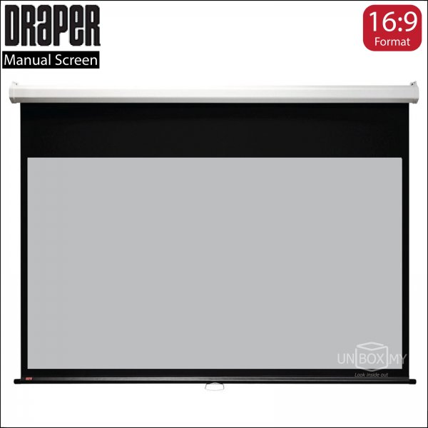 DRAPER LUMA Manual Projection Screen High Contrast Grey (HDTV 16:9)