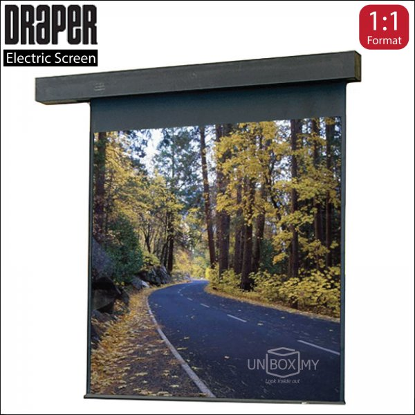 DRAPER Rolleramic Electric Projection Screen Matte White (AV 1:1)