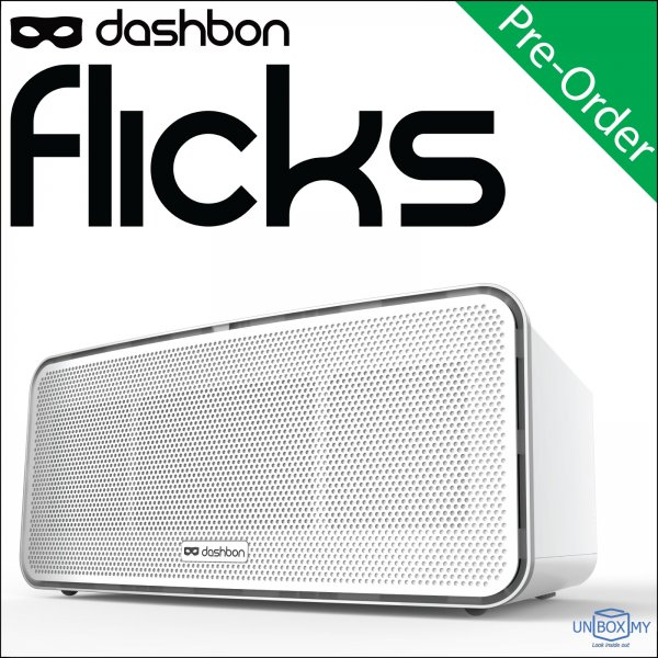 Dashbon Flicks Mobile Cordless Boombox LED Projector