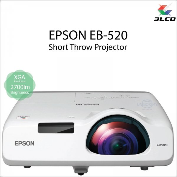 Epson EB-520 3LCD XGA Short Throw Projector