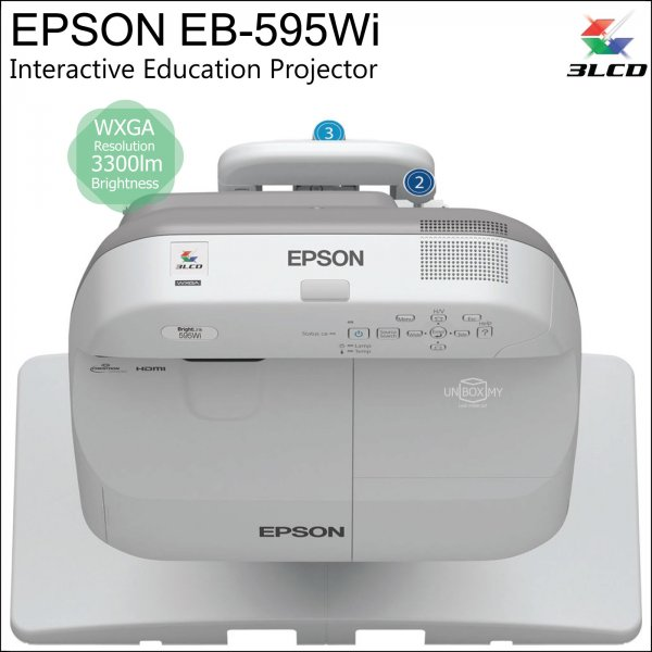 Epson EB-595Wi 3LCD WXGA Short Throw Interactive Education Projector