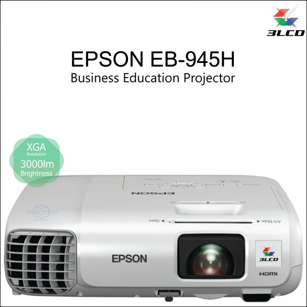 Epson EB-945H 3LCD XGA Business Education Projector