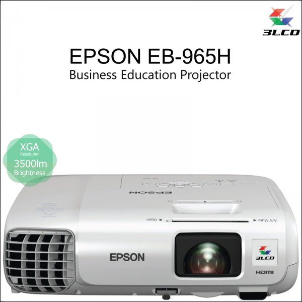 Epson EB-965H 3LCD XGA Business Education Projector