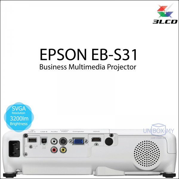 Epson EB-S31 3LCD SVGA Business Multimedia Projector